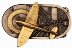 24ct Gold and silver Plated Battle of Britain Belt Buckle with display stand